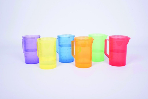 Translucent Colour Small Jug Set 6pk